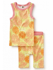 Tea Collection Pompelmo Pajamas Neon Rosa (Girls)