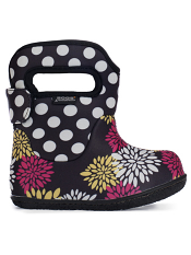 Baby Bogs Waterproof Boots Classic Pompon Dots Black Multi