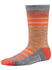 SmartWool Girls Thinscape Stripe Poppy