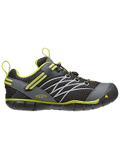 KEEN Chandler CNX Raven/Bright Chartreuse Kids/Youth