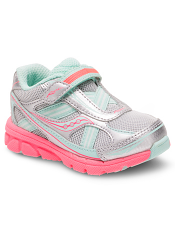 Saucony Baby Ride Silver/Turquoise (Toddler/Kids)