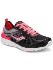 Saucony Girls Volt Black/Multi (Kids/Youth)