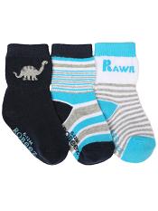 Robeez 3pk Socks Rawr