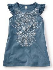Tea Collection Venetian Metallic Dress Monsoon (Girls)