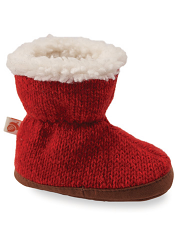 Acorn Easy Bootie Red Ragg Wool
