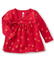 Tea Collection Uzu-uzu Wrap Tunic (Baby Girls)