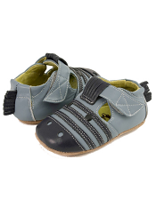 Livie & Luca Zebra Blue (Baby Soft Sole)