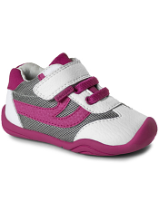 pediped Grip 'n' Go Cliff White Fuchsia