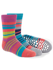 Acorn Toasty Treads 2-Pack Pink/Turquoise