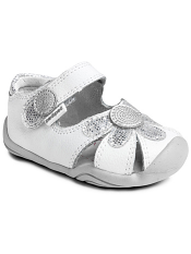 pediped Grip 'n' Go Daisy White Silver
