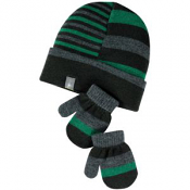 SmartWool Baby Split Stripe Hat Mitt Set Forest
