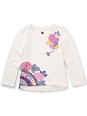 Tea Collection Sensu Graphic Tee (Girls)