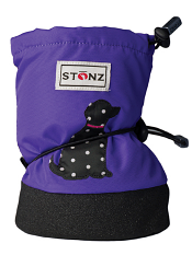 Stonz Booties Polka Dog Purple
