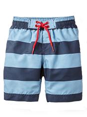 Tea Collection Deep Sea Stripe Board Shorts
