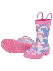 Hatley Puzzle Piece Horses Rain Boots
