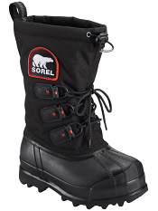 Sorel Youth Glacier™ XT Black/Red Quar