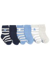 Robeez 6pk Socks Rugby Star Blue
