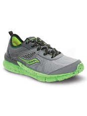 Saucony Boys Volt Grey/Green (Kids/Youth)