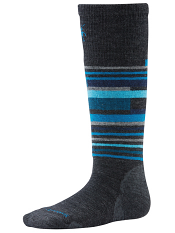 SmartWool Kids Wintersport Stripe Charcoal