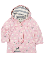 Hatley Metallic Hearts Lined Raincoat (Baby/Toddler)
