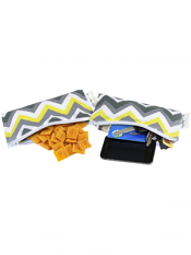 Itzy Ritzy Snack Happens Mini Bag Sunshine Chevron 2 Pack