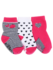 Robeez 3pk Socks Kelly The Whale Pink