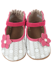 Robeez Becca Mary Jane Hot Pink & Silver (Soft Soles)