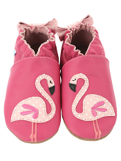 Robeez Pinky The Flamingo Hot Pink (Soft Soles)