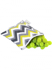 Itzy Ritzy Snack Happens Snack Bag Sunshine Chevron
