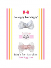 No Slippy Baby's First Hair Clips Set