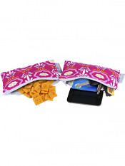 Itzy Ritzy Snack Happens Mini Bag Modern Damask 2 Pack
