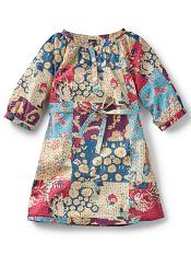 Tea Collection Patchwork Kantha Button Dress