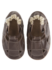 Robeez Fisherman Sandal Brown (Soft Soles)