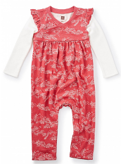 Tea Collection Bisuta Wrap neck Romper Cardinal (Baby Girls)