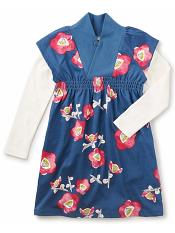 Tea Collection Nari Double Decker Dress Nautilus (Girls)