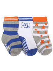 Robeez 3pk Socks Outer Space