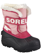 Sorel Snow Commander Coral Pink Bright Rose