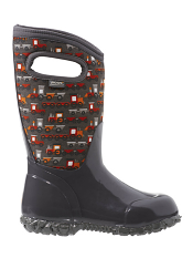 Bogs Kids' Insulated Boots Durham Choo Choo Dark Gray Multi