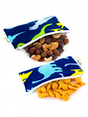 Itzy Ritzy Snack Happens Mini Bag Dino-Mite 2 Pack