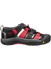 KEEN Newport H2 Black/Racing Red Multi (Kids/Youth)