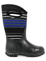 Bogs Kids' Insulated Boots Durham Varied Stripes Black Multi