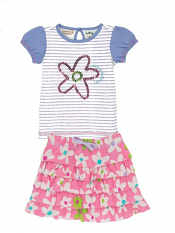 Hatley Fresh Flowers Skirt Set