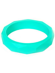 Itzy Ritzy Teething Happens Chewable Mom Jewelry Bangle Bracelet Turquoise