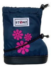 Stonz Booties 60's Flower Navy Blue