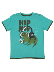 Hatley Boys Graphic Tee Hip Hop Frog