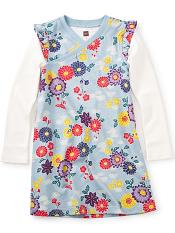 Tea Collection Yukar Wrap Neck Dress (Girls)