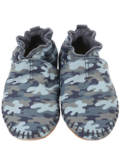 Robeez Premium Leather Classic Moccasin Camo (Soft Soles)