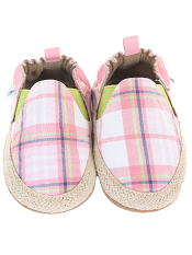 Robeez Plaid Mania Pink Soft Soles