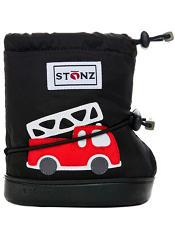 Stonz Booties Fire Truck Black PLUSfoam Sole