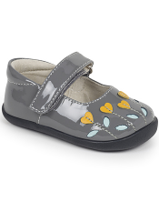 Smaller Steps By See Kai Run Tricia Gray Patent/Yellow